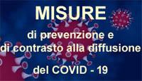 Misure di prevenzione alla diffusione del COVID-19